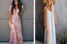 Длинные платья на лето: лучшие модели 2019 года на разные случаи (ФОТО)