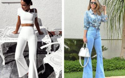 Популярные в 90-х колокола возвращаются в моду. С чем их носить