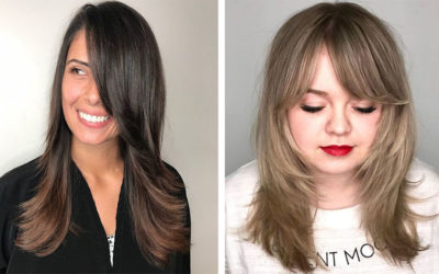 Лесенка на средние волосы: с челкой и без — 50 ярких фото