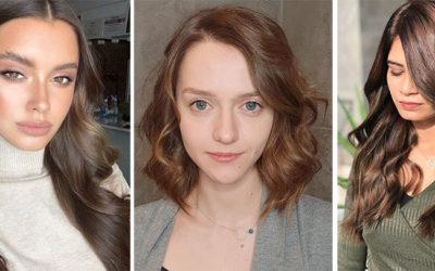Коричневые цвет волос: модный тренд 2020 года для любого возраста