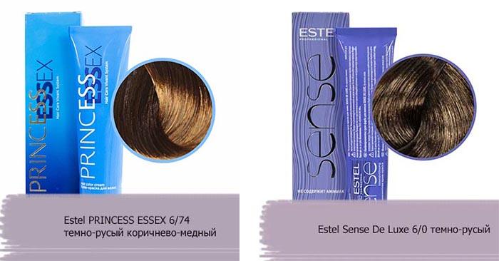 краска для волос темно русый